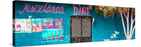 ¡Viva Mexico! Panoramic Collection - Turquoise Dani Supermarket-Philippe Hugonnard-Stretched Canvas Print