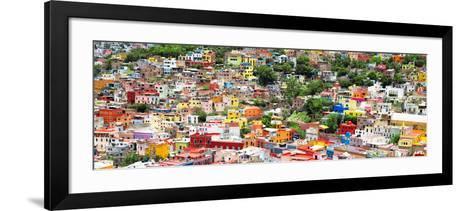 ?Viva Mexico! Panoramic Collection - Guanajuato Colorful Cityscape VIII-Philippe Hugonnard-Framed Art Print