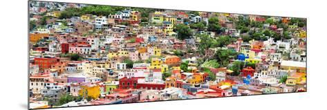 ?Viva Mexico! Panoramic Collection - Guanajuato Colorful Cityscape VIII-Philippe Hugonnard-Mounted Photographic Print