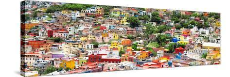 ?Viva Mexico! Panoramic Collection - Guanajuato Colorful Cityscape VIII-Philippe Hugonnard-Stretched Canvas Print