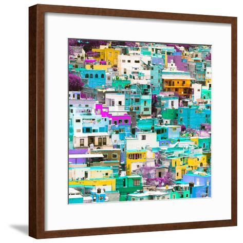 ¡Viva Mexico! Square Collection - Guanajuato Colorful Cityscape V-Philippe Hugonnard-Framed Art Print