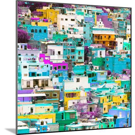 ¡Viva Mexico! Square Collection - Guanajuato Colorful Cityscape V-Philippe Hugonnard-Mounted Photographic Print