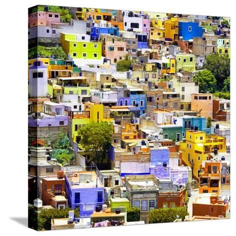 ¡Viva Mexico! Square Collection - Guanajuato Colorful Cityscape I-Philippe Hugonnard-Stretched Canvas Print