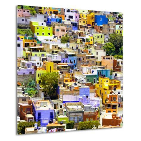¡Viva Mexico! Square Collection - Guanajuato Colorful Cityscape I-Philippe Hugonnard-Metal Print