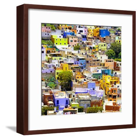 ¡Viva Mexico! Square Collection - Guanajuato Colorful Cityscape I-Philippe Hugonnard-Framed Art Print