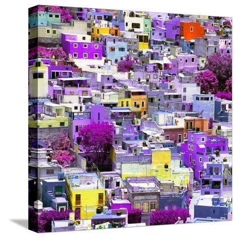 ¡Viva Mexico! Square Collection - Colorful Guanajuato XVI-Philippe Hugonnard-Stretched Canvas Print