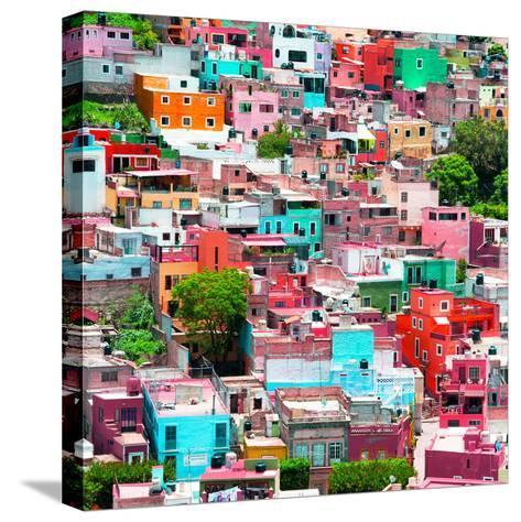 ¡Viva Mexico! Square Collection - Guanajuato Colorful Cityscape II-Philippe Hugonnard-Stretched Canvas Print