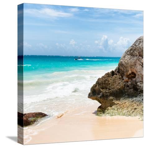 ?Viva Mexico! Square Collection - Tulum Caribbean Coastline IX-Philippe Hugonnard-Stretched Canvas Print