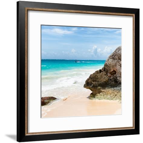 ?Viva Mexico! Square Collection - Tulum Caribbean Coastline IX-Philippe Hugonnard-Framed Art Print