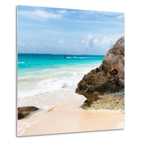 ?Viva Mexico! Square Collection - Tulum Caribbean Coastline IX-Philippe Hugonnard-Metal Print