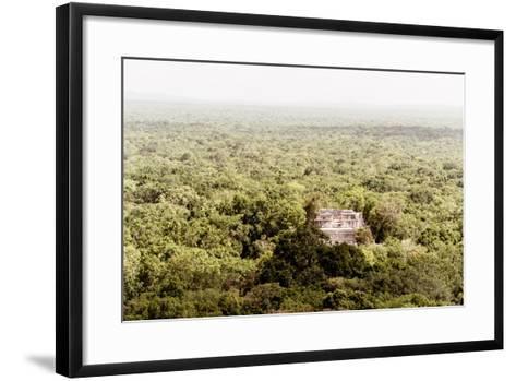 ¡Viva Mexico! Collection - Ancient Maya City within the jungle V - Calakmul-Philippe Hugonnard-Framed Art Print