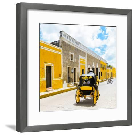 ¡Viva Mexico! Square Collection - The Yellow City V - Izamal-Philippe Hugonnard-Framed Art Print