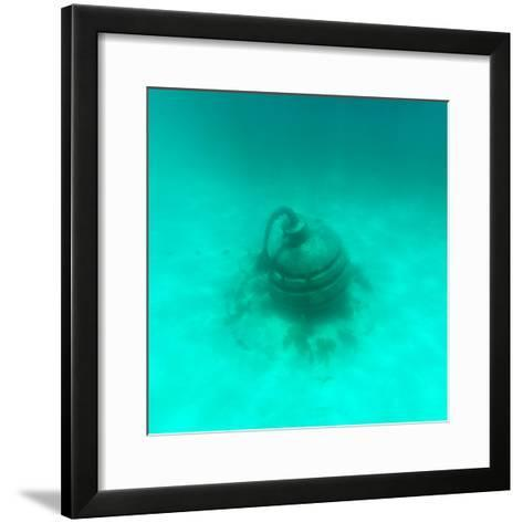 ¡Viva Mexico! Square Collection - Sculptures at bottom of sea in Cancun II-Philippe Hugonnard-Framed Art Print