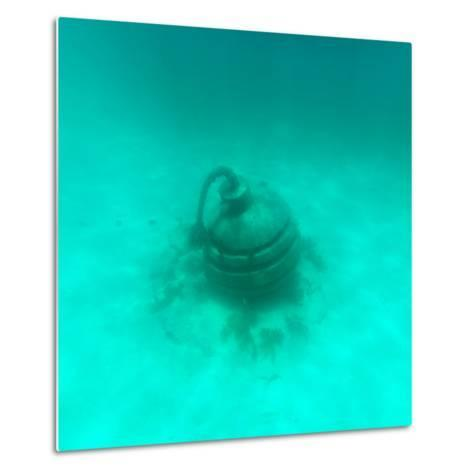 ¡Viva Mexico! Square Collection - Sculptures at bottom of sea in Cancun II-Philippe Hugonnard-Metal Print