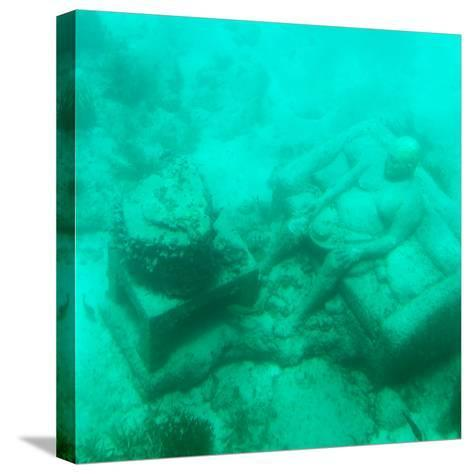 ¡Viva Mexico! Square Collection - Sculptures at bottom of sea in Cancun III-Philippe Hugonnard-Stretched Canvas Print