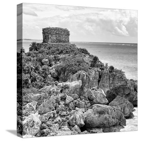 ¡Viva Mexico! Square Collection - Tulum Caribbean Coastline XII-Philippe Hugonnard-Stretched Canvas Print