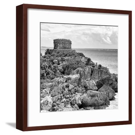 ¡Viva Mexico! Square Collection - Tulum Caribbean Coastline XII-Philippe Hugonnard-Framed Art Print