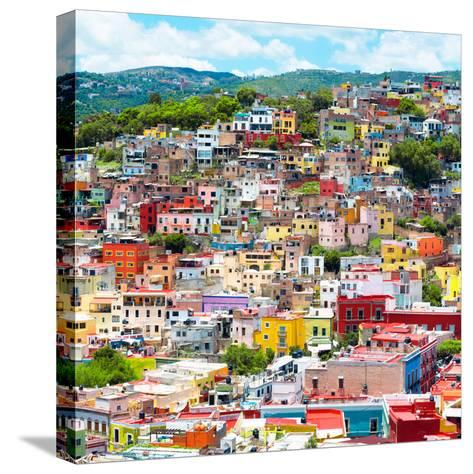 ¡Viva Mexico! Square Collection - Guanajuato Colorful Cityscape XVI-Philippe Hugonnard-Stretched Canvas Print