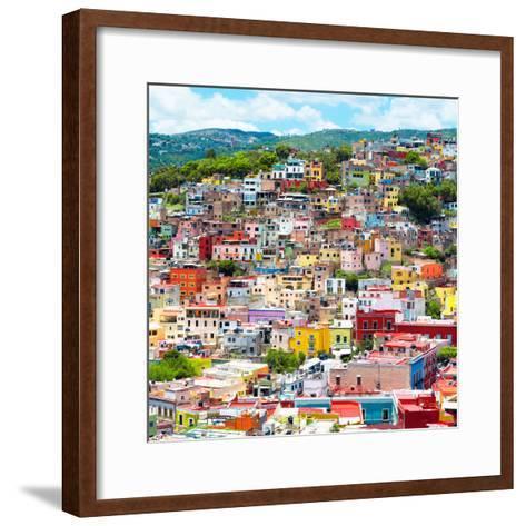 ¡Viva Mexico! Square Collection - Guanajuato Colorful Cityscape XVI-Philippe Hugonnard-Framed Art Print