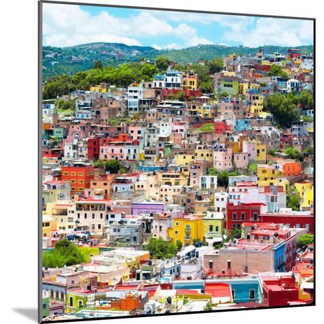 ¡Viva Mexico! Square Collection - Guanajuato Colorful Cityscape XVI-Philippe Hugonnard-Mounted Photographic Print