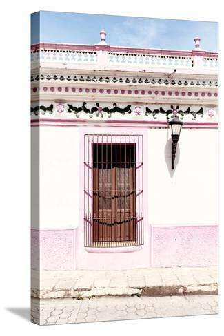 ¡Viva Mexico! Collection - The Pink Window II-Philippe Hugonnard-Stretched Canvas Print