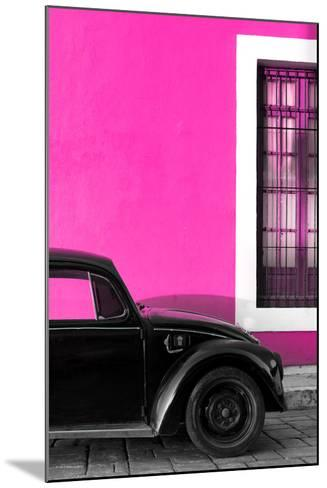 ?Viva Mexico! Collection - Black VW Beetle with Pink Street Wall-Philippe Hugonnard-Mounted Photographic Print