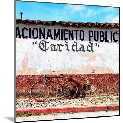 "¡Viva Mexico! Square Collection - ""Caridad"" Red Bike-Philippe Hugonnard-Mounted Photographic Print"