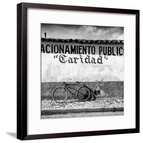 "?Viva Mexico! Square Collection - ""Caridad"" Bike-Philippe Hugonnard-Framed Art Print"
