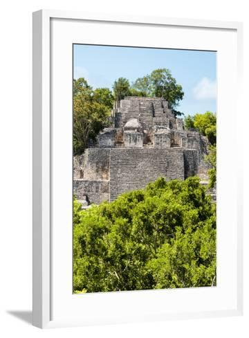 ¡Viva Mexico! Collection - Ancient Maya City within the jungle of Calakmul III-Philippe Hugonnard-Framed Art Print