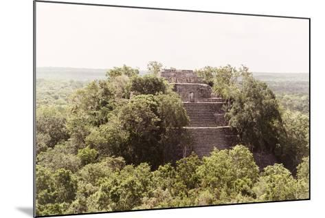 ¡Viva Mexico! Collection - Pyramid in Mayan City of Calakmul-Philippe Hugonnard-Mounted Photographic Print