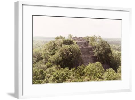 ¡Viva Mexico! Collection - Pyramid in Mayan City of Calakmul-Philippe Hugonnard-Framed Art Print