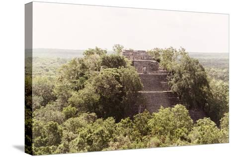 ¡Viva Mexico! Collection - Pyramid in Mayan City of Calakmul-Philippe Hugonnard-Stretched Canvas Print