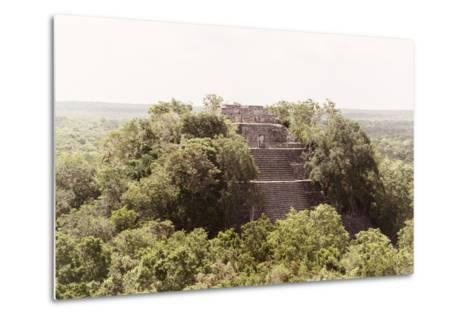¡Viva Mexico! Collection - Pyramid in Mayan City of Calakmul-Philippe Hugonnard-Metal Print