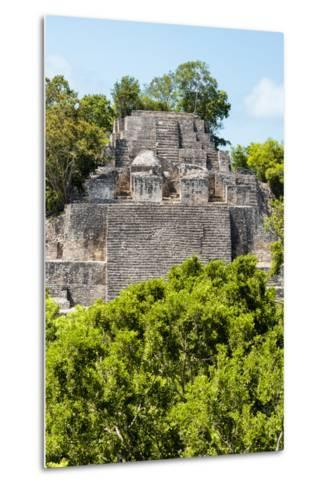 ¡Viva Mexico! Collection - Ancient Maya City within the jungle of Calakmul III-Philippe Hugonnard-Metal Print