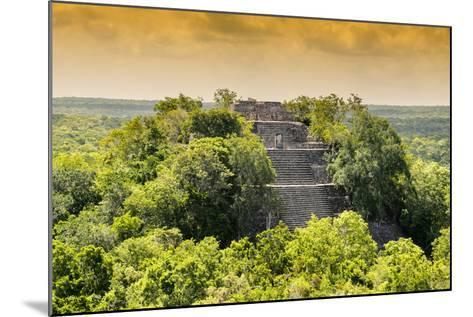 ¡Viva Mexico! Collection - Pyramid in Mayan City at Sunset of Calakmul-Philippe Hugonnard-Mounted Photographic Print