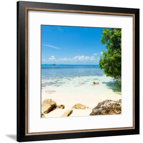 ¡Viva Mexico! Square Collection - Coastline Paradise in Isla Mujeres-Philippe Hugonnard-Framed Art Print