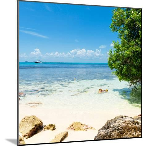 ¡Viva Mexico! Square Collection - Coastline Paradise in Isla Mujeres-Philippe Hugonnard-Mounted Photographic Print