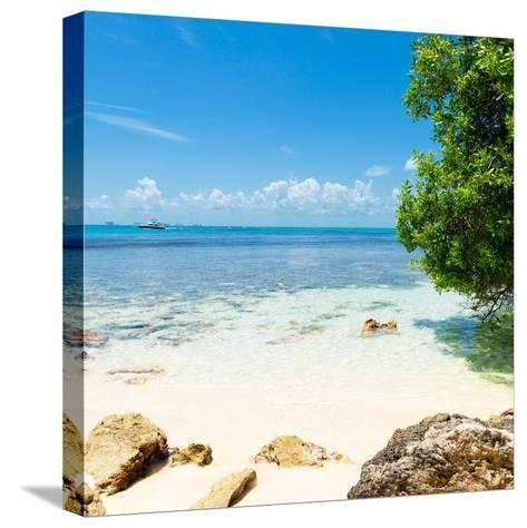 ¡Viva Mexico! Square Collection - Coastline Paradise in Isla Mujeres-Philippe Hugonnard-Stretched Canvas Print