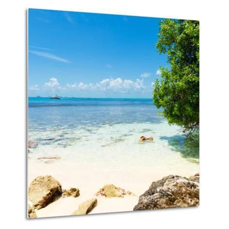 ¡Viva Mexico! Square Collection - Coastline Paradise in Isla Mujeres-Philippe Hugonnard-Metal Print