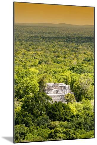 ?Viva Mexico! Collection - Ancient Maya City within the jungle at Sunset II - Calakmul-Philippe Hugonnard-Mounted Photographic Print