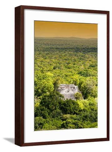 ?Viva Mexico! Collection - Ancient Maya City within the jungle at Sunset II - Calakmul-Philippe Hugonnard-Framed Art Print