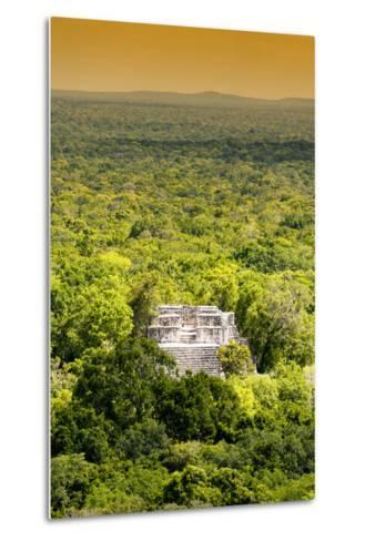?Viva Mexico! Collection - Ancient Maya City within the jungle at Sunset II - Calakmul-Philippe Hugonnard-Metal Print
