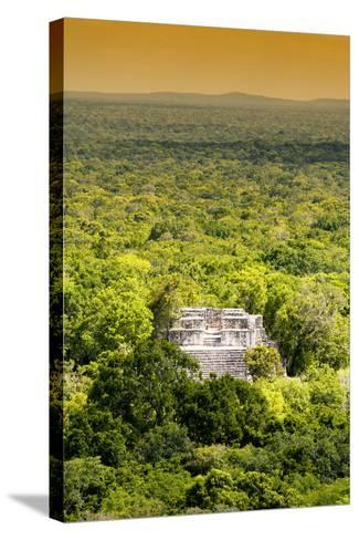 ?Viva Mexico! Collection - Ancient Maya City within the jungle at Sunset II - Calakmul-Philippe Hugonnard-Stretched Canvas Print