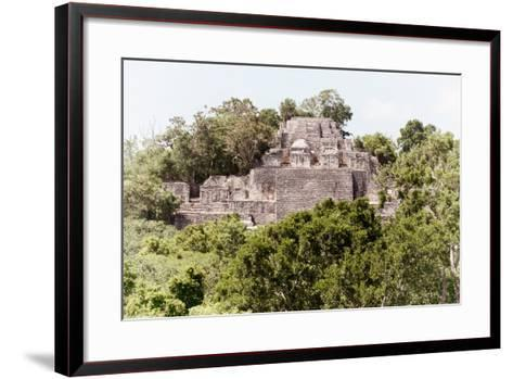 ¡Viva Mexico! Collection - Ancient Maya City within the jungle of Calakmul II-Philippe Hugonnard-Framed Art Print