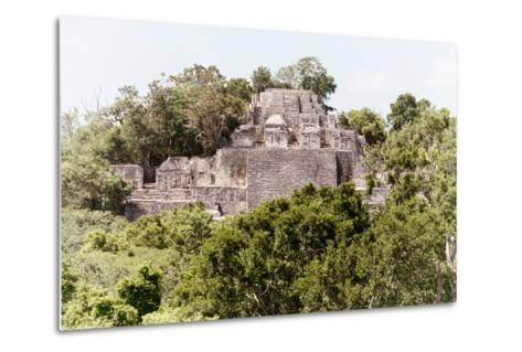 ¡Viva Mexico! Collection - Ancient Maya City within the jungle of Calakmul II-Philippe Hugonnard-Metal Print