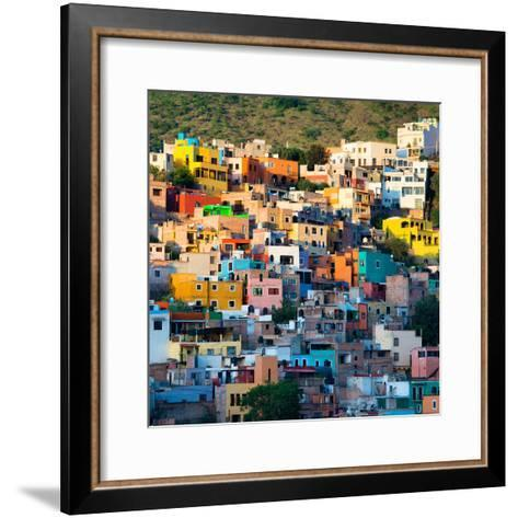 ¡Viva Mexico! Square Collection - Guanajuato at Sunset-Philippe Hugonnard-Framed Art Print