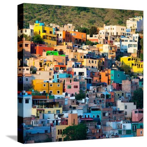 ¡Viva Mexico! Square Collection - Guanajuato at Sunset-Philippe Hugonnard-Stretched Canvas Print