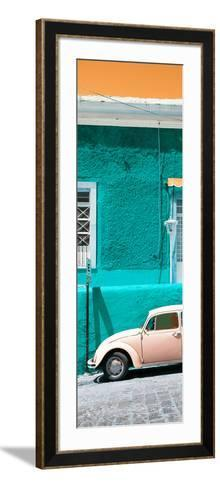 ¡Viva Mexico! Panoramic Collection - VW Beetle Car and Turquoise Wall-Philippe Hugonnard-Framed Art Print