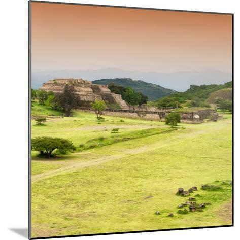 ¡Viva Mexico! Square Collection - Ruins of Monte Alban at Sunset III-Philippe Hugonnard-Mounted Photographic Print