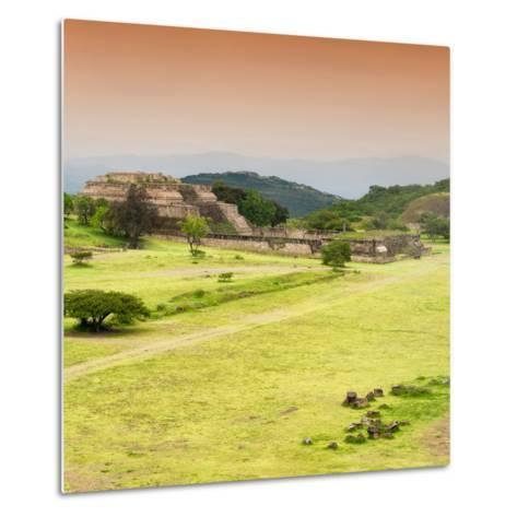 ¡Viva Mexico! Square Collection - Ruins of Monte Alban at Sunset III-Philippe Hugonnard-Metal Print